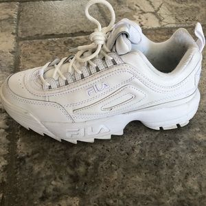 Fila Disruptor. All white. 7.5 worn once
